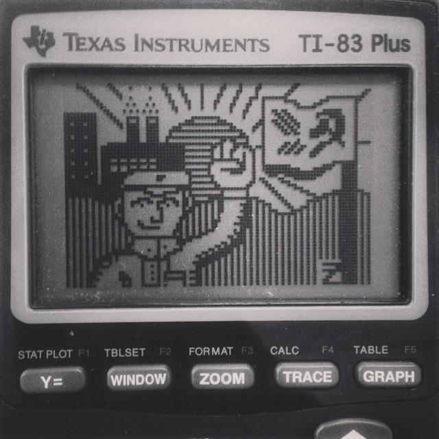 Maoist calculator art