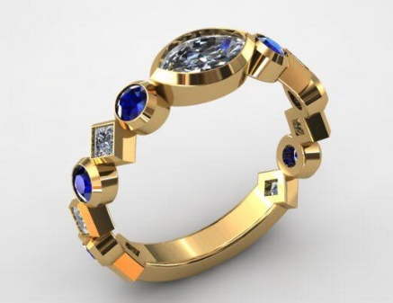 Custom Couture - Sapphires & Diamonds