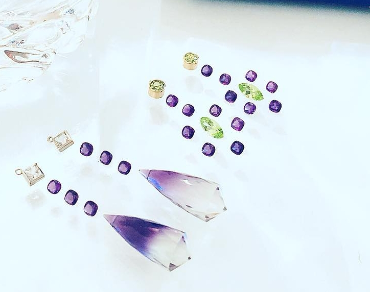 Couture Rocks Custom Designs with Amethyst, Peridot, Opal, Apatite