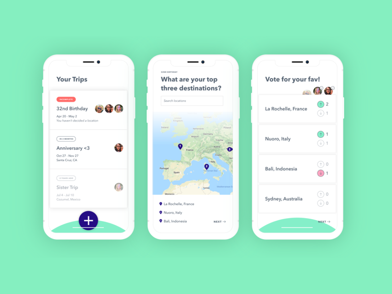 5 hour design challenge - Design Challenge • 2018This was a design challenge to make a travel app in under five hours.