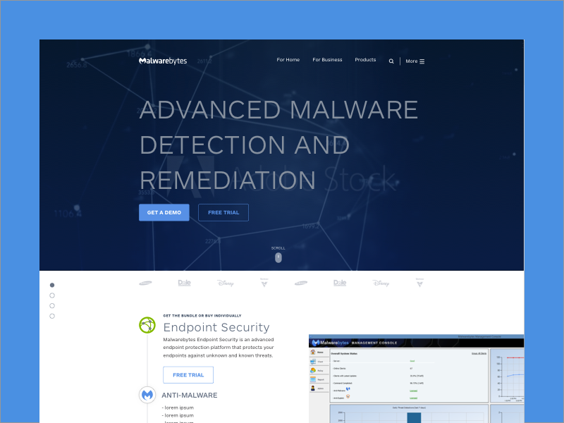 Malwarebytes - UX/UI Designer • 2015-2016How we launched a complete redesign and rebuild of the Malwarebytes marketing website.