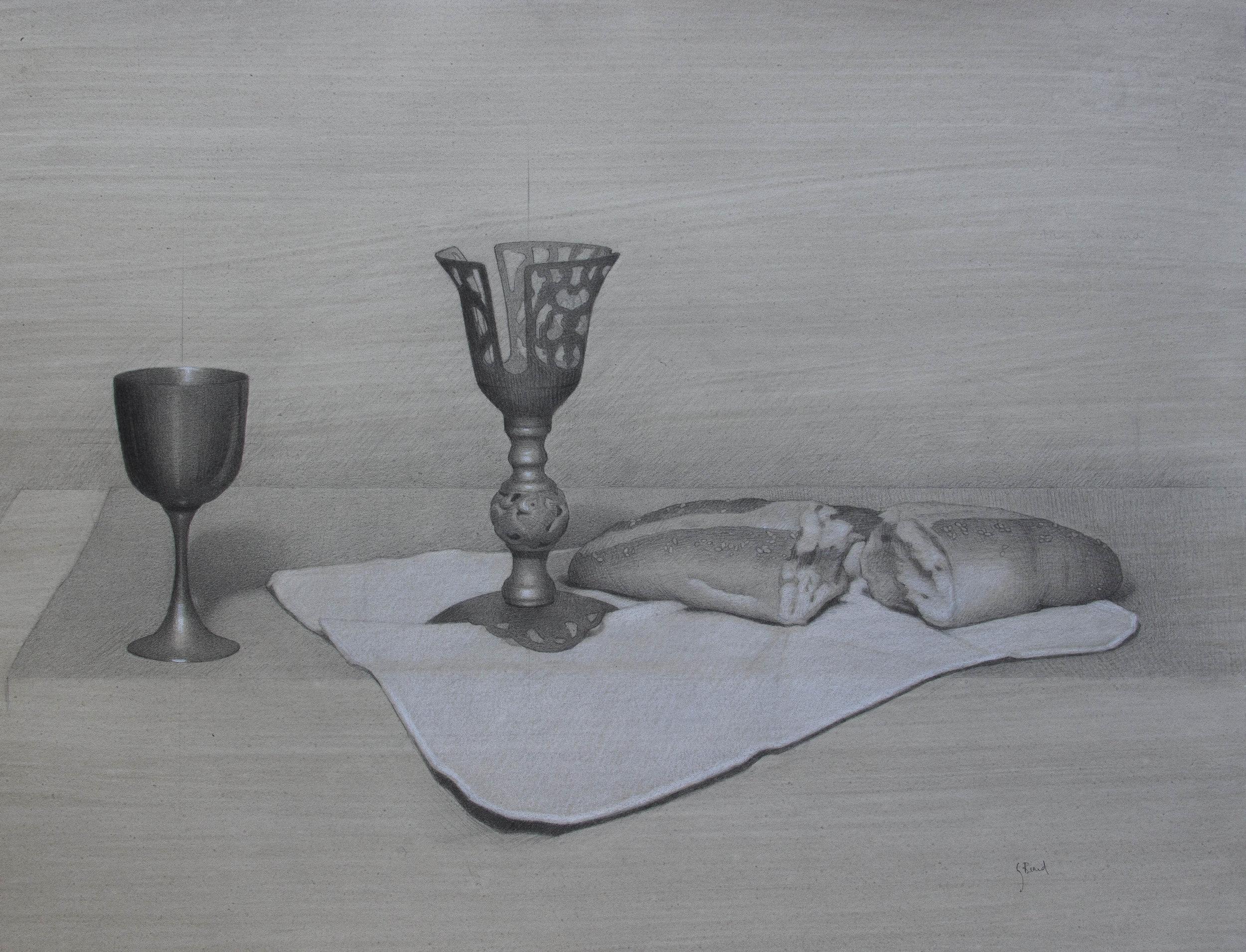 The Eucharist in Pencil.  'Private Collection'