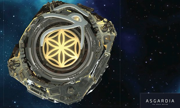 Image: Asgardia Project's first satellite, concept art by James Vaughan