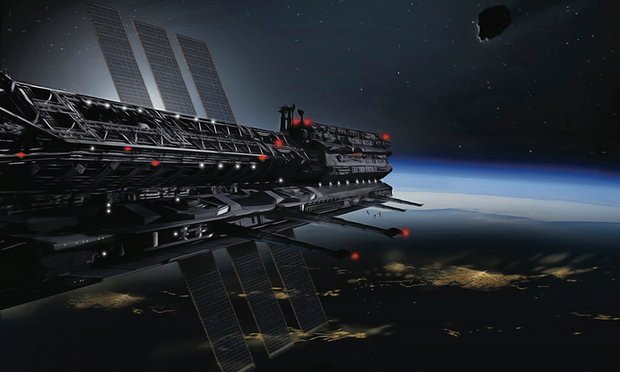 Image: Asgardia Project, concept art of space junk shield by James Vaughan
