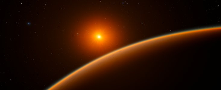 Artist's impression of exoplanet 1140b.  Credit:  ESO/ spaceengine.org