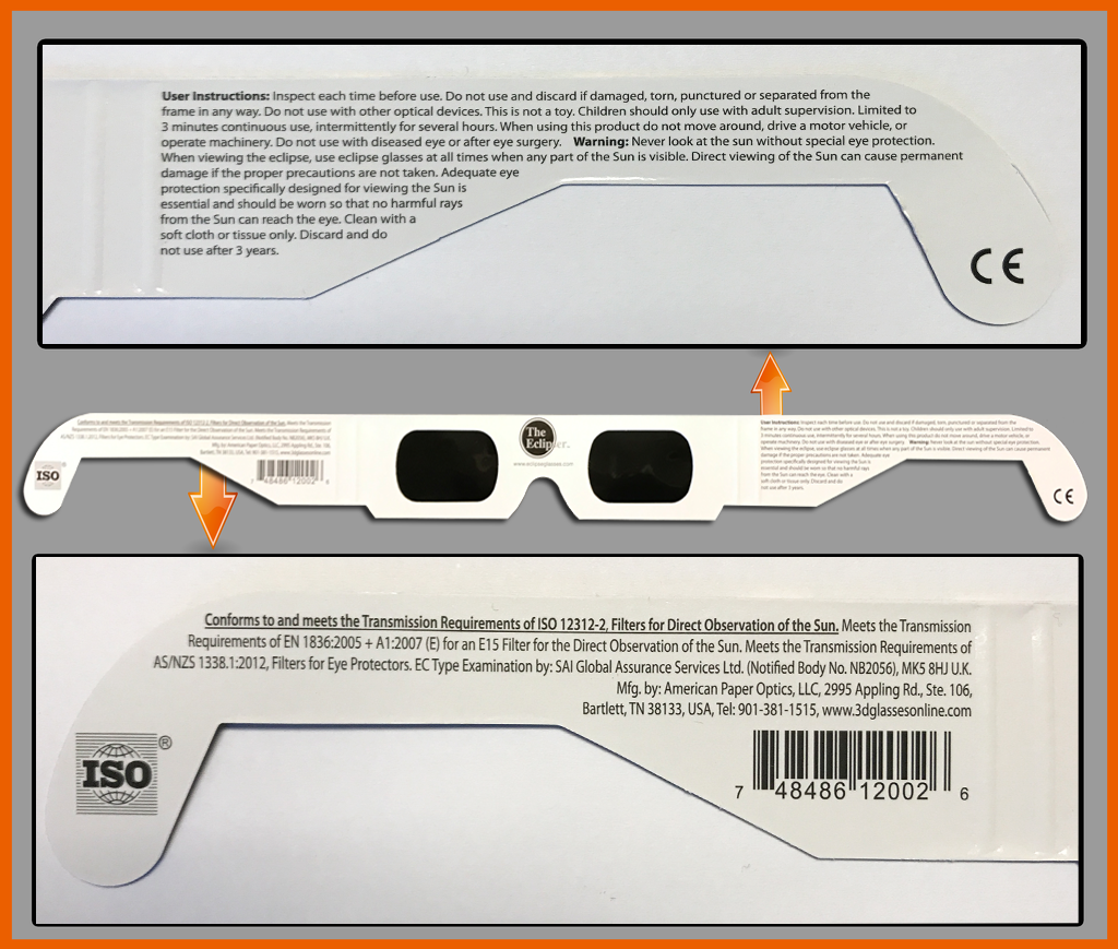 What the REAL American Paper Optics glasses should look like.