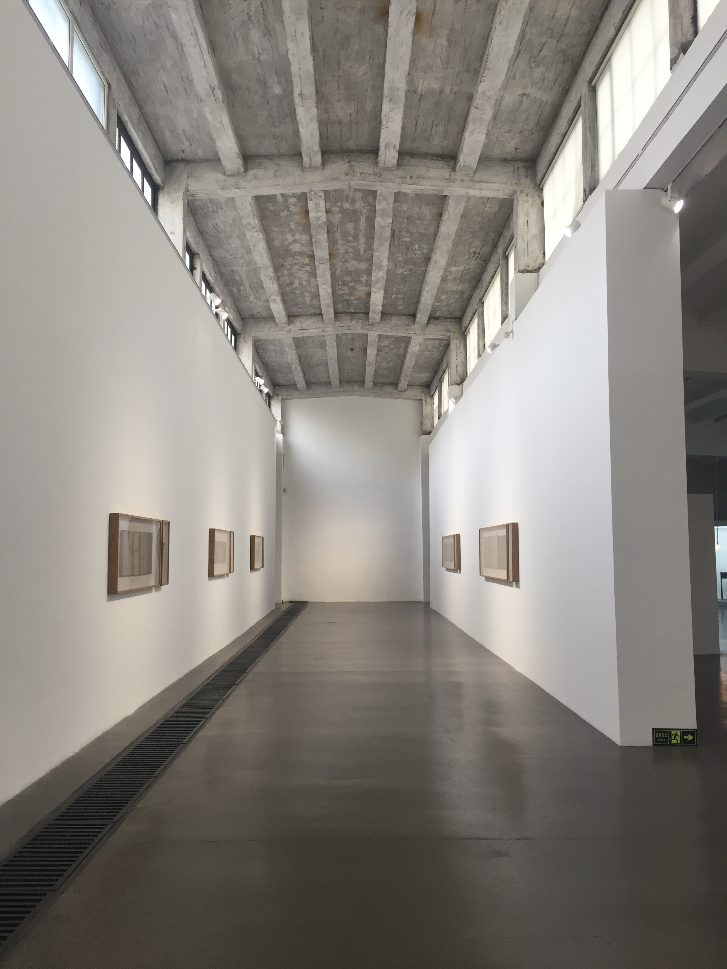 Galleries amidst the warehouses