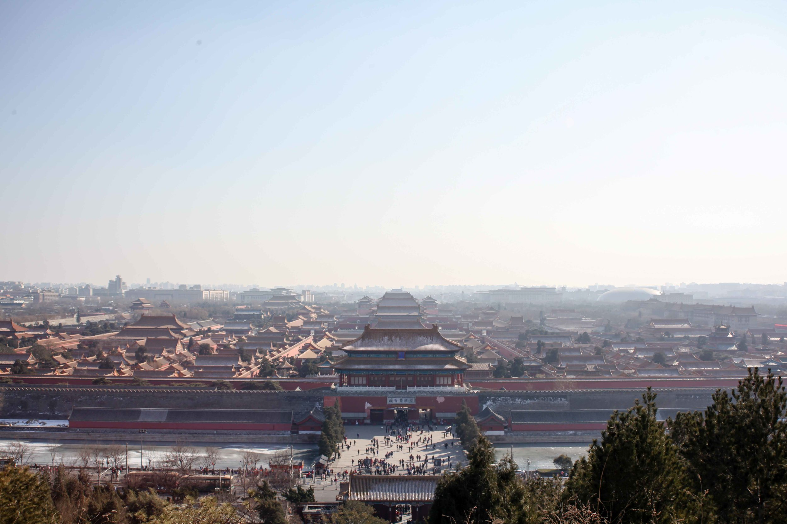 View of The Forbidden City from Jingshan Hill.