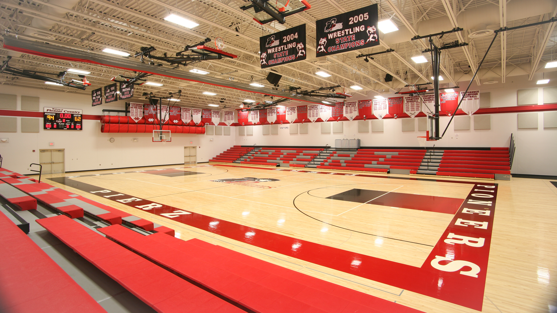 Pierz Pioneers High School Gymnasium