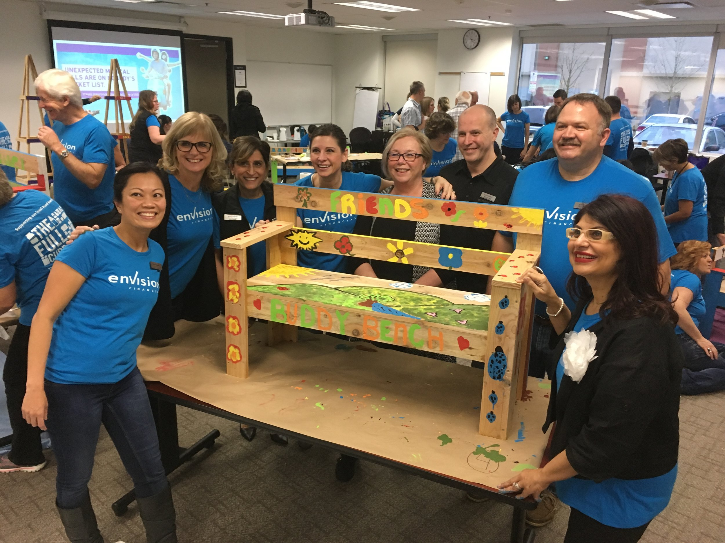 Buddy Benches with First West Credit Union