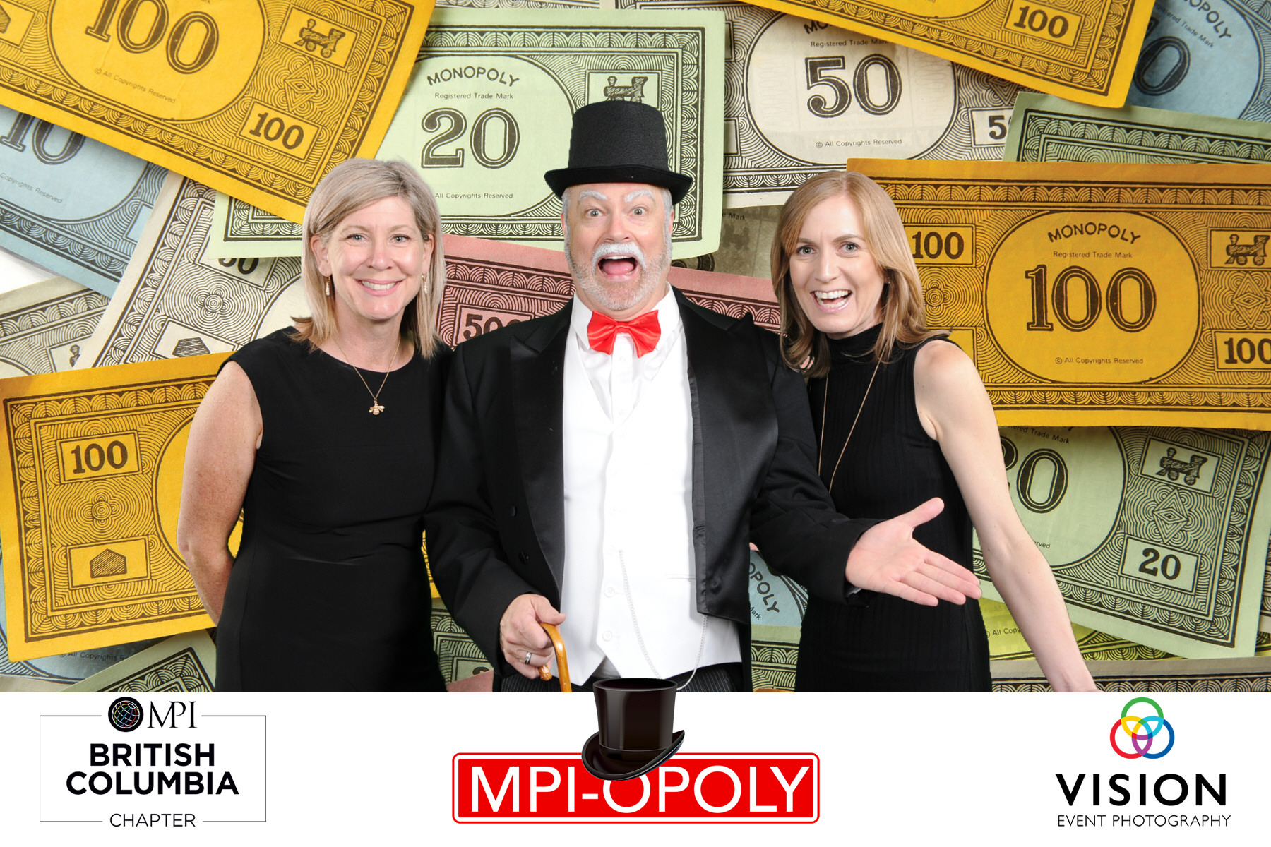 Pearce as The Monopoly Man for MPI