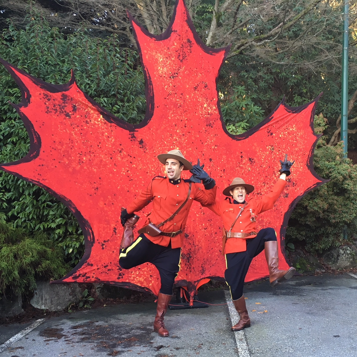 Comedic Mounties at Stanley Park
