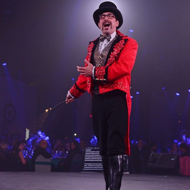 Stefano the Ringmaster for Peace Arch Foundation