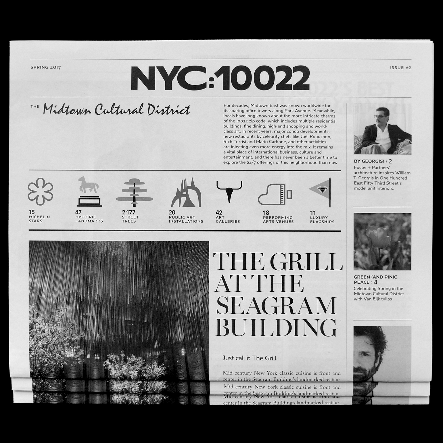 NYC:10022    The second edition of the NYC:10022 newsletter focuses on Spring must-sees and the latest news from the Midtown Cultural District.