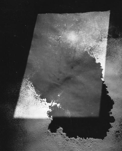 "Window light on the studio floor  ,  1999, 40"" x 30"", Silver print"