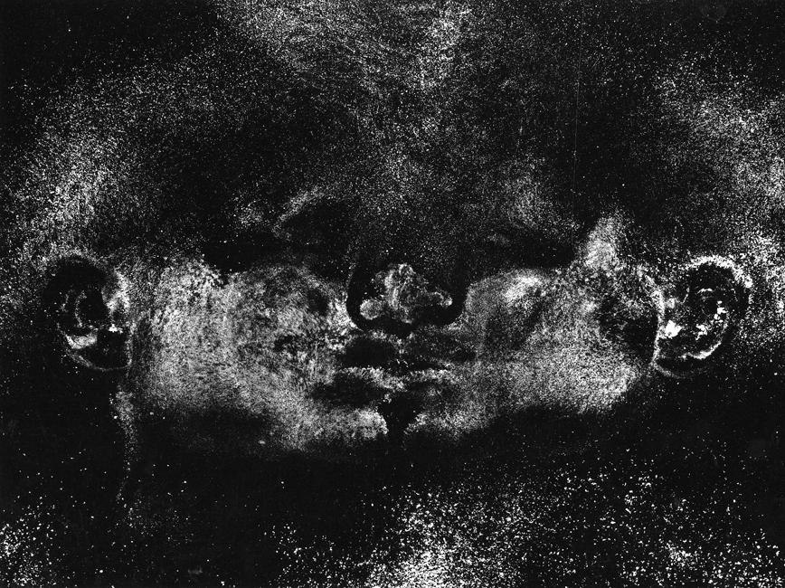 "I rolled my head from one side to the other  ,  Part I of triptych, 2000, 30"" x 40"", Siver print"