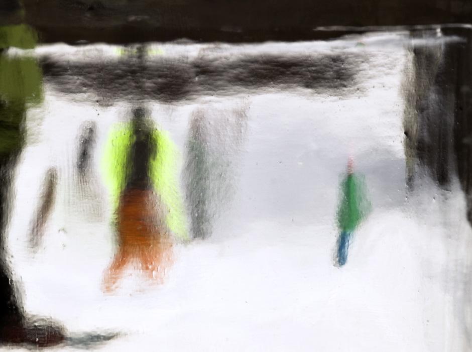 "Figures in the snow    2017, 24"" X 30"", Pigment Print"