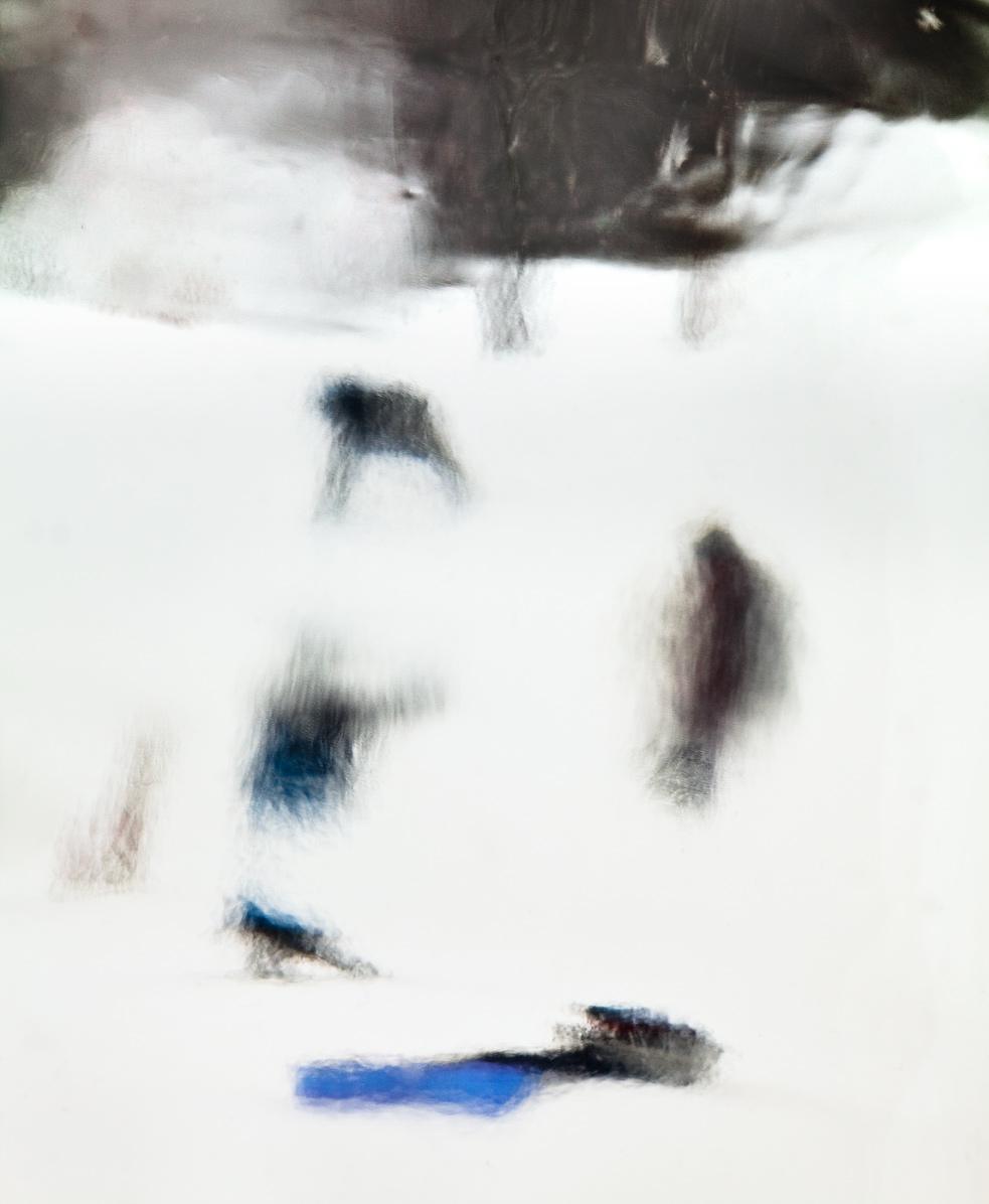 "5 figures in the snow    2017, 29"" X 24"", Pigment Print"