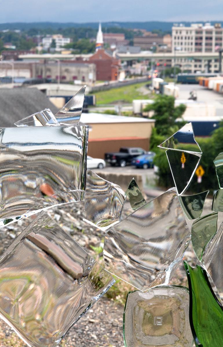 """Worcester, as seen through broken glass    2019, 42"""" X 28"""", Pigment Print"""