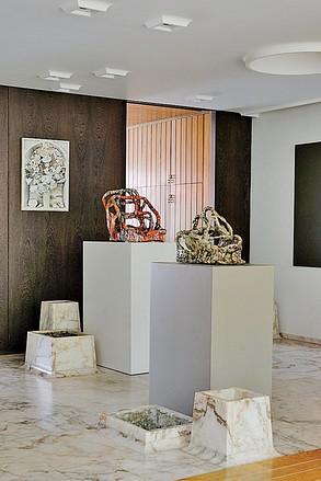 Sterling Ruby ceramic sculptures