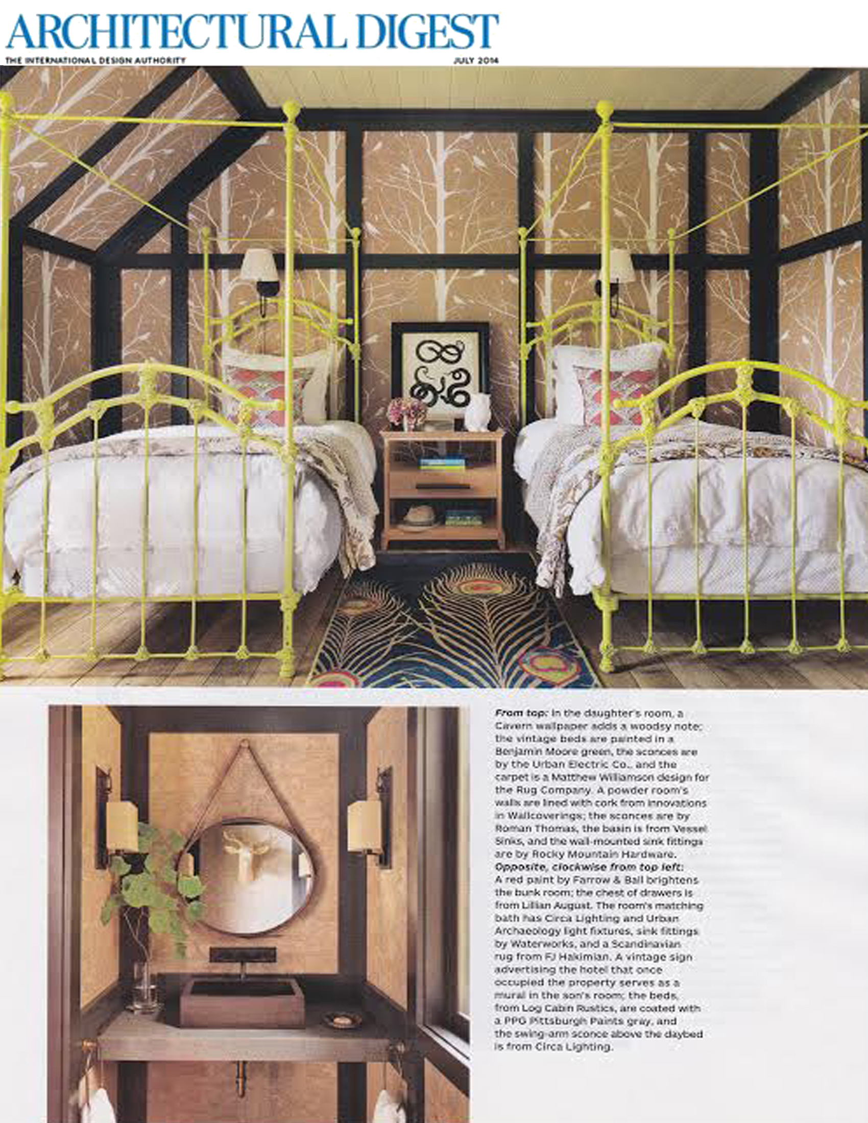 Architectural Digest July 2014