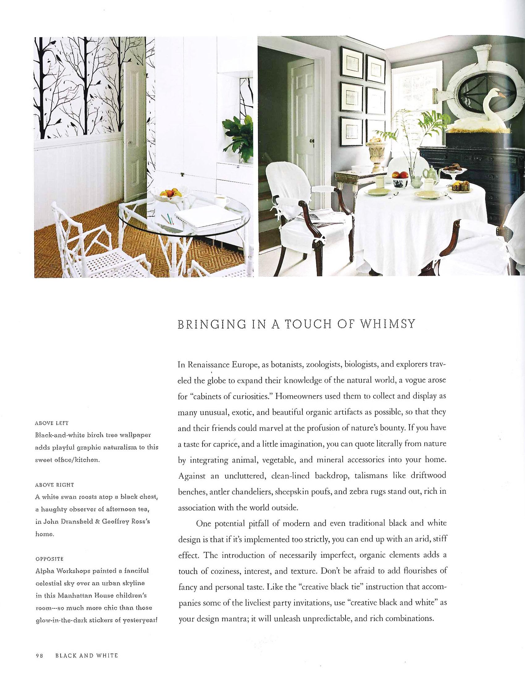 Black & White by Celerie Kemble November 2011