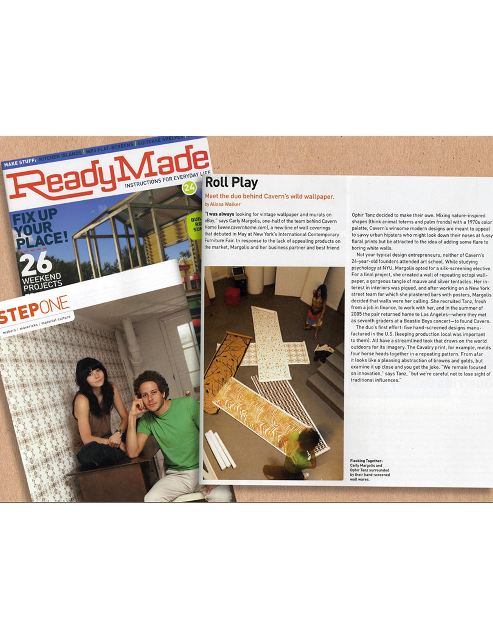 ReadyMade Magazine August 2006