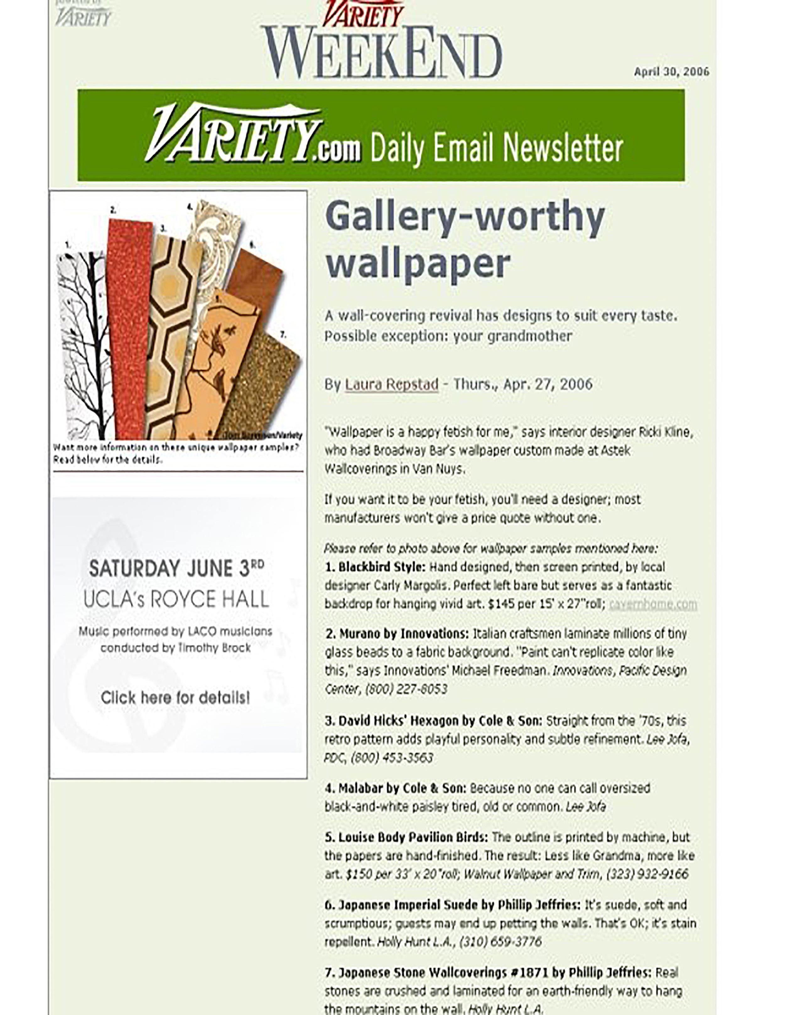 Variety Weekend April 2006
