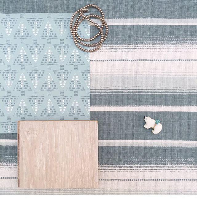 Digging this customer's bedroom scheme 🙌 Serape fabric and Talisman wallpaper 💠🔼💎