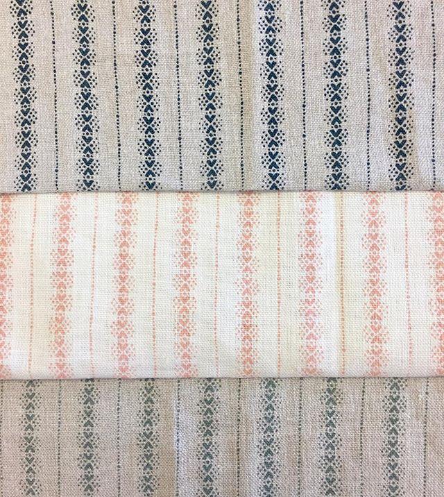 Brand new Dorado fabric 🐣 Available in Indigo, Peach and Sage 💙🍑💚