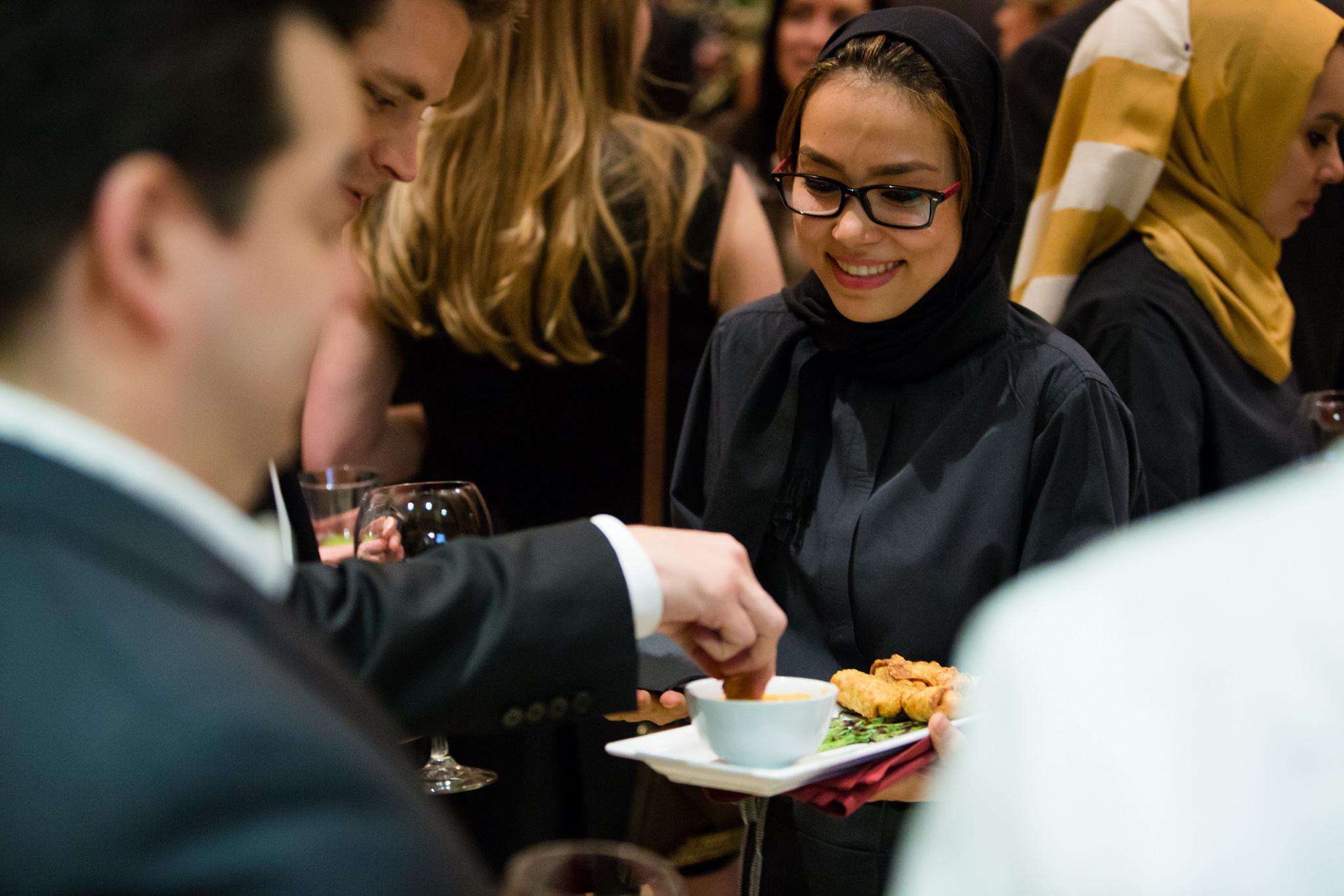 RAH Student Serving Food