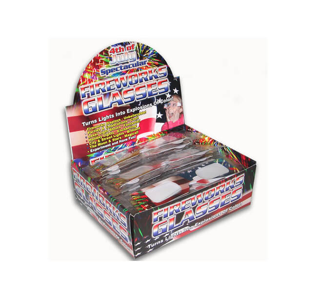 American Flag Fireworks Glasses - Retail Display Box    Shop Here