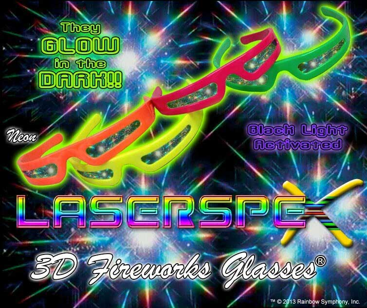 NEW!! LaserSpex™ Plastic Rainbow Fireworks Glasses® - Enhances your light show experience. Turn your next electronic party into a fusion of lights, color, music and dance.  Plastic Rainbow Fireworks Glasses - LaserSpex    Shop Here