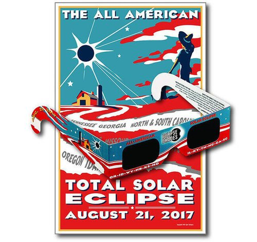 All American Eclipse Glasses- Safe Solar Glasses- Eclipse 2017 Limited Edition 07104  Shop Here
