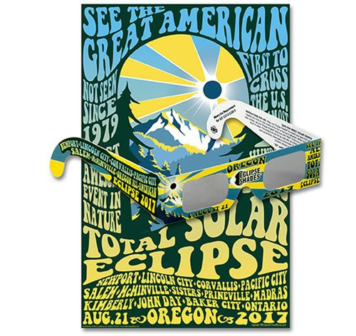 Eclipse Shades - Oregon 2017 Commemorative Glasses & Poster   07116   SHOP HERE