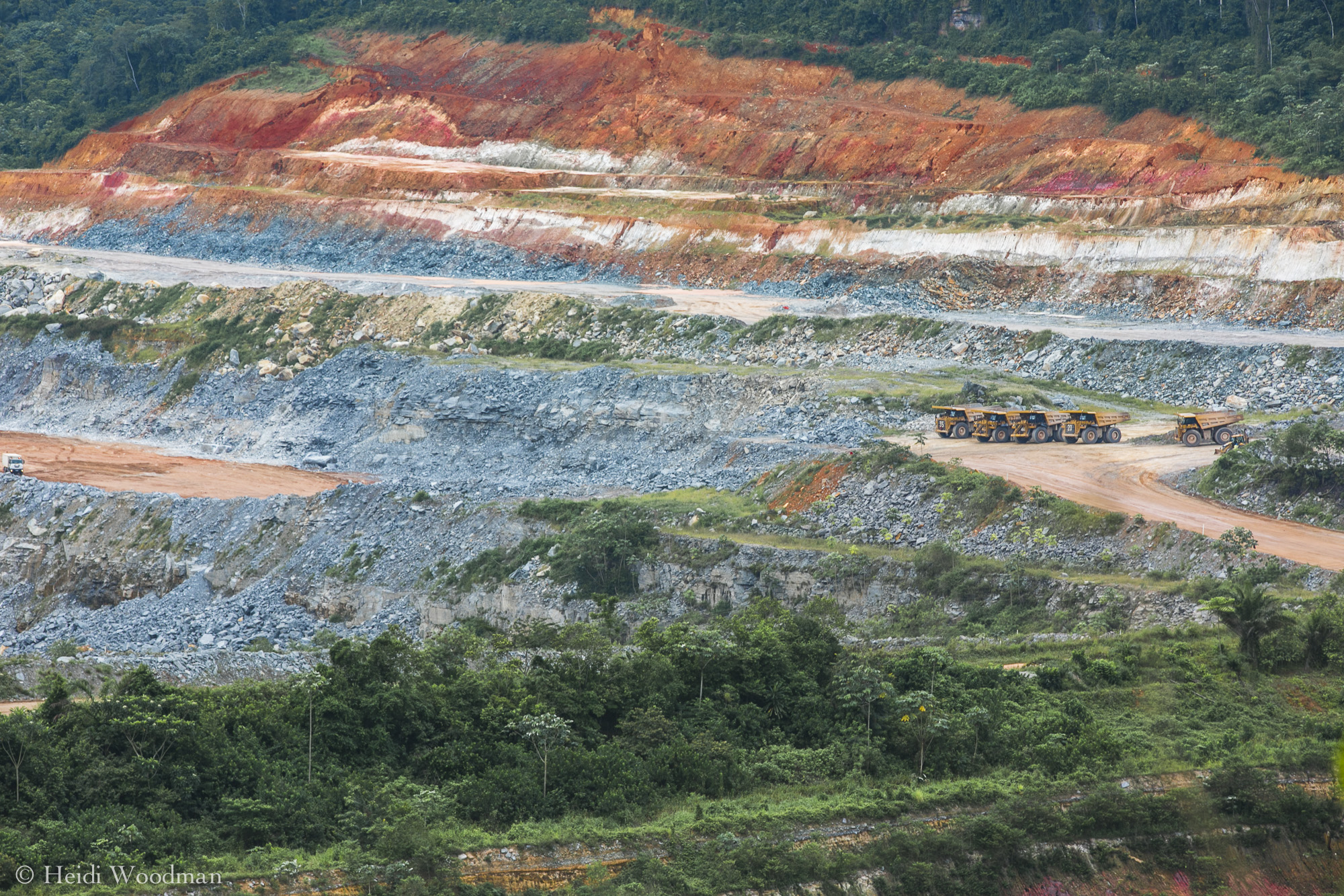 One of the pits at Tarkwa mine cuts into the landscape.