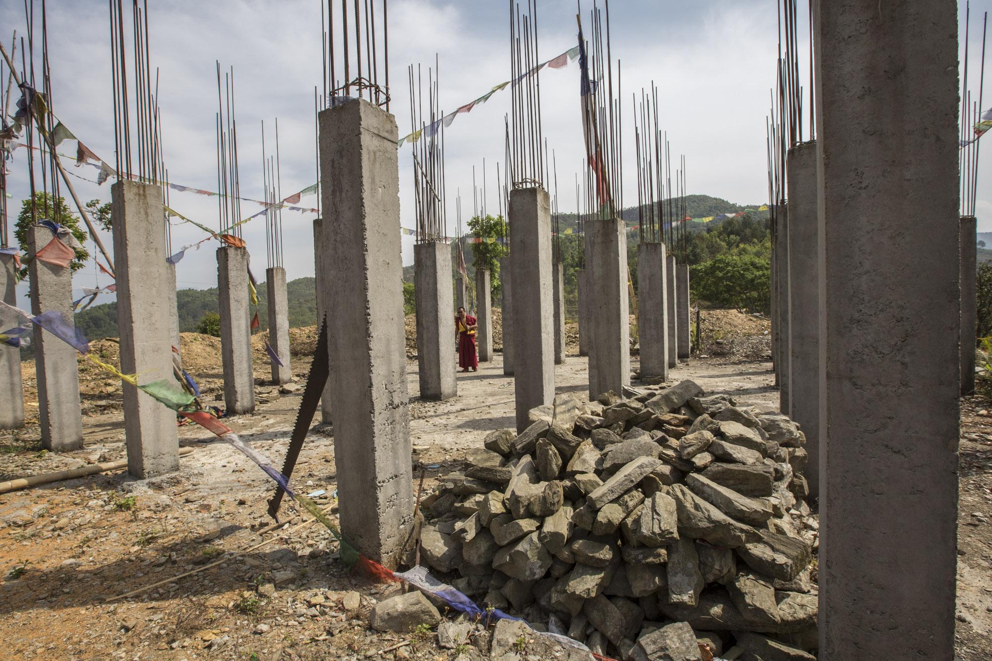 Rebuilding the monastery