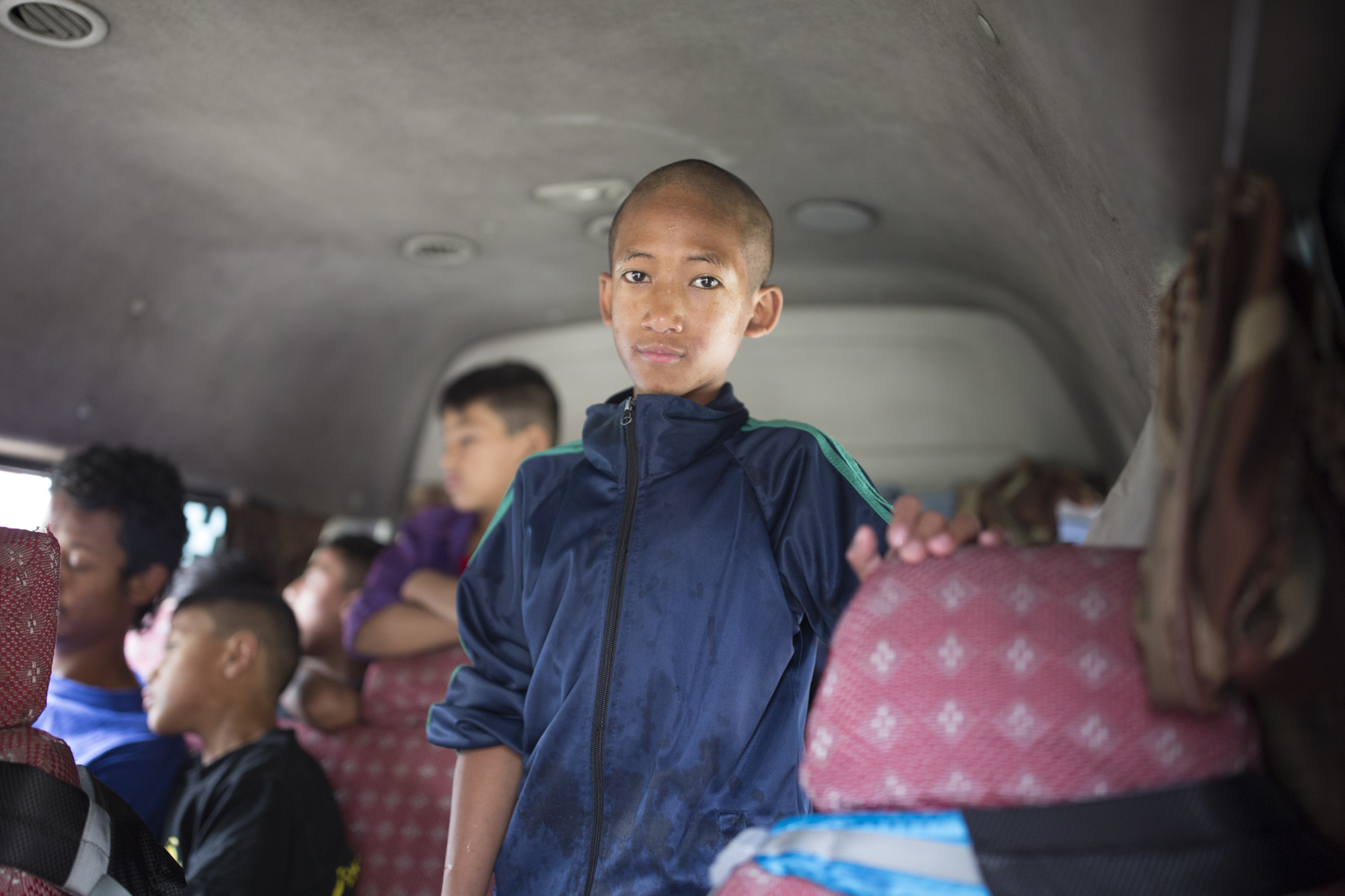 Ready for an special excursion to Pokhara with the boys from TBU house, his first ever trip out of kathmandu.
