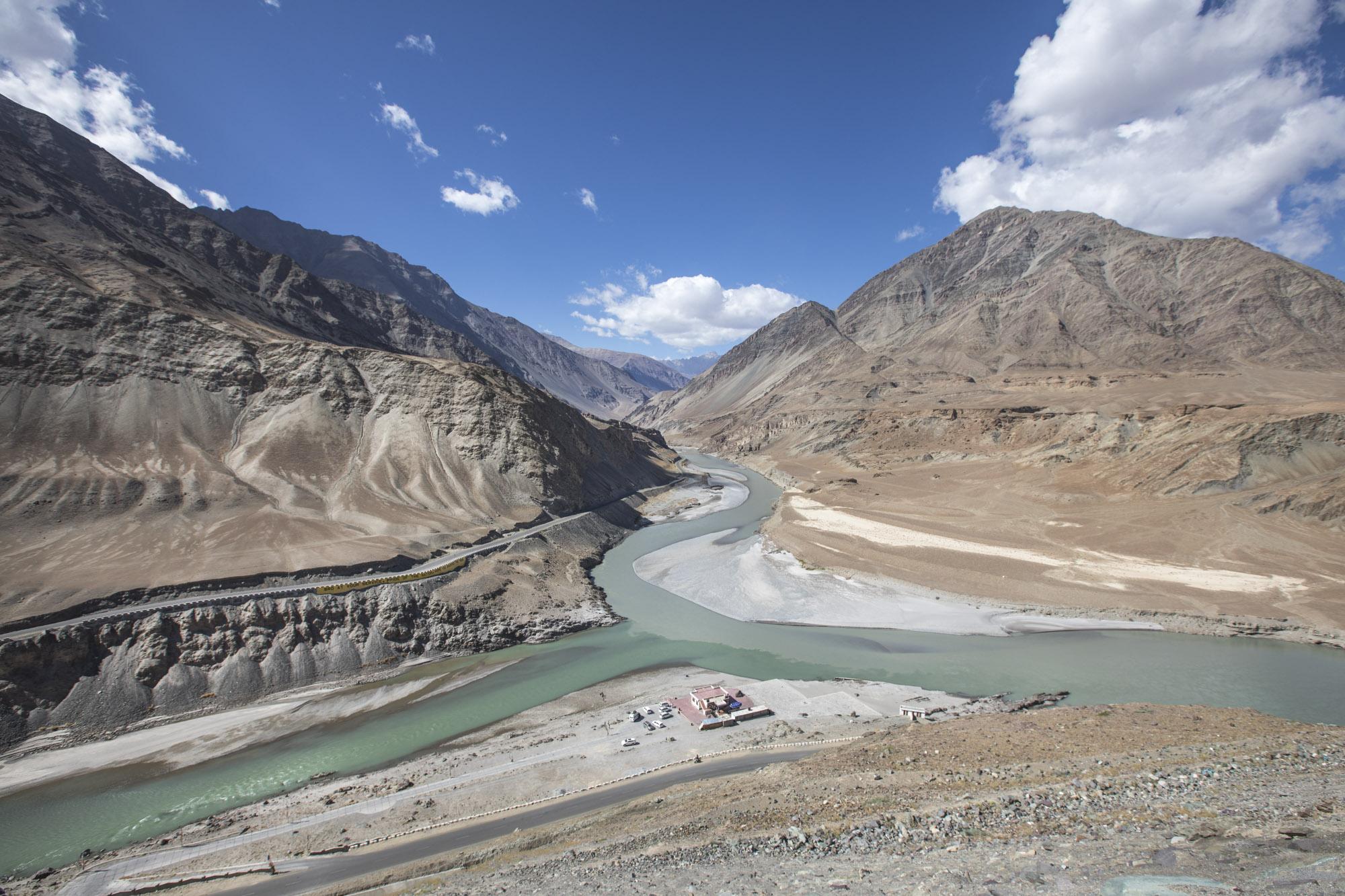 It flows from Tibet