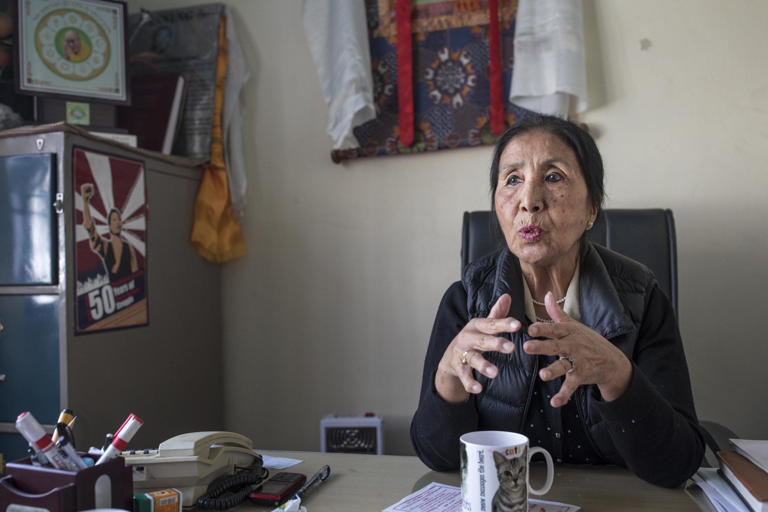 Dolma Yangchen, president of the Tibetan Women's Association
