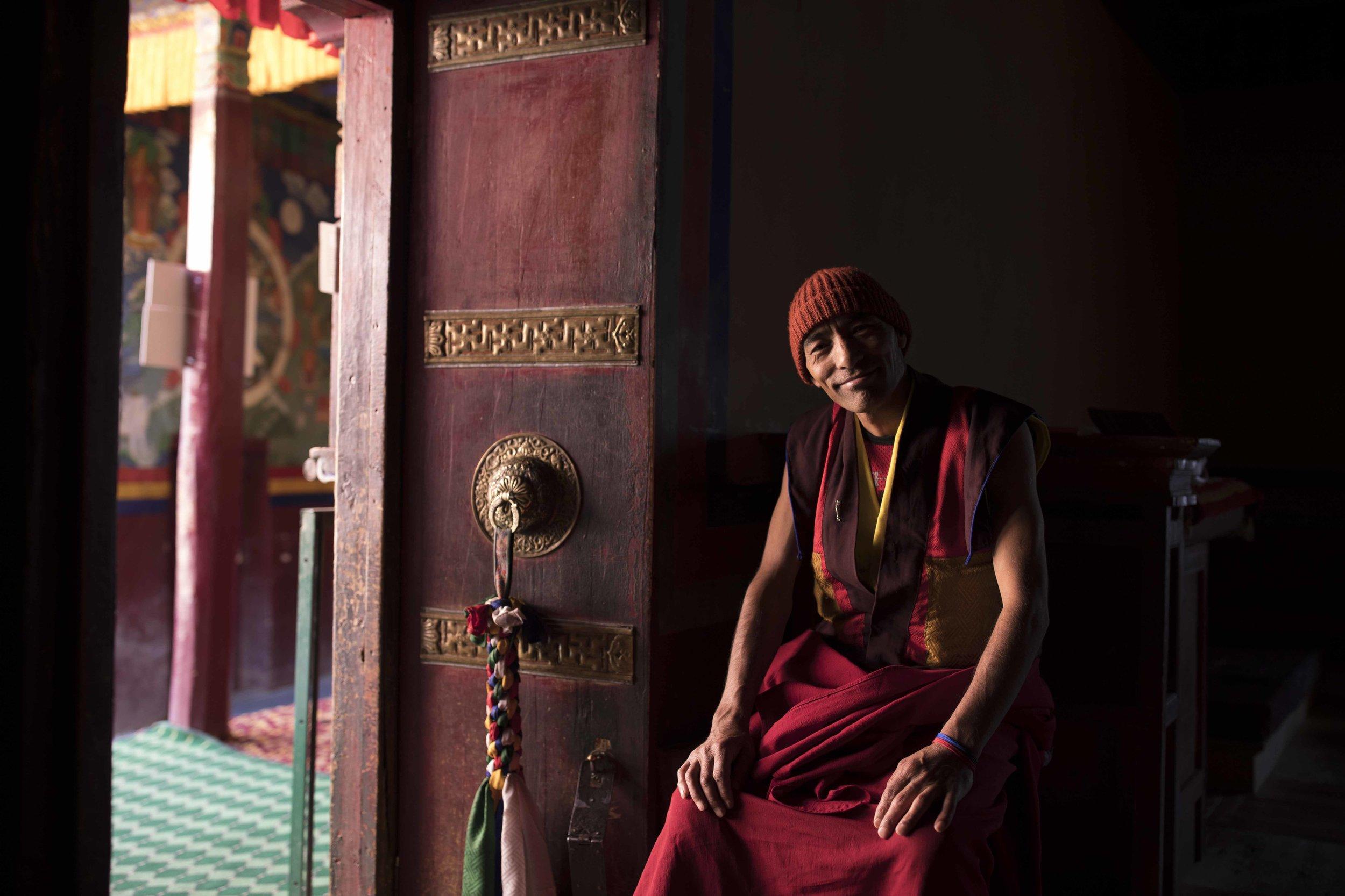 Monk, Yuru gompa, Lamayuru, India