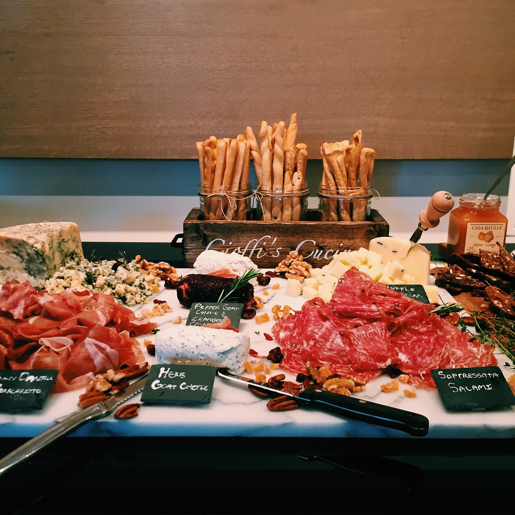 Gorgeous spread provided by  Cioffi's Meat Market & Deli  for Von Bon Apparel Party