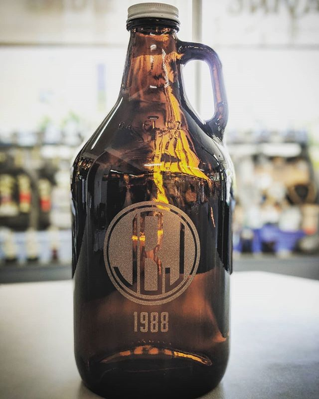 Have we talked about how busy we are?! We haven't had a lot of time to share some of the amazing things we've been doing lately, but here's a step towards fixing that.  This amazing brown bottle growler was a real treat to sandblast, such a great finish to a great gift! . . . . . . . . #sandblasting #laserengraving #growlers #growler #beer #locallymade #smallbusiness #portlandoregon