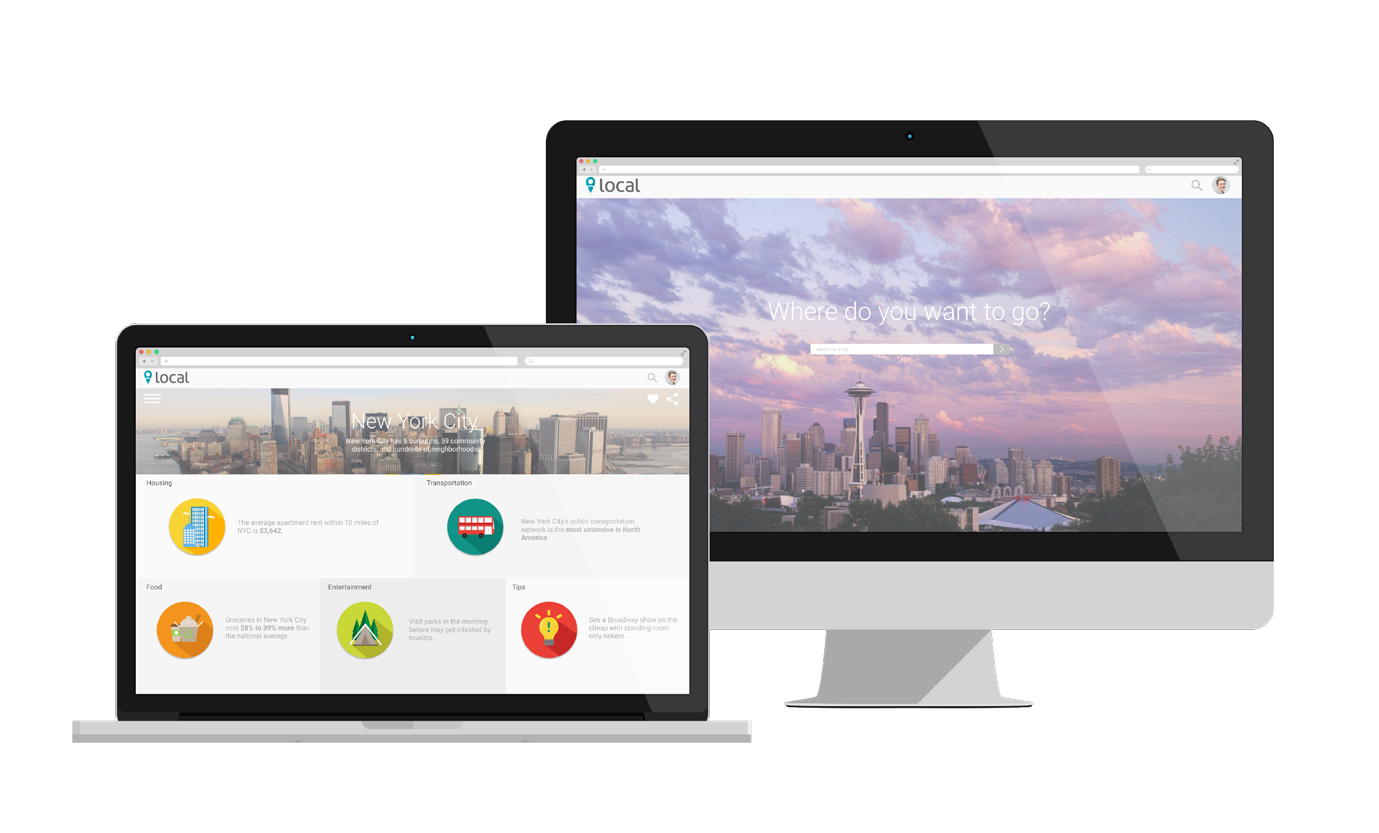 Search for a city. - View general information about the city and and learn what lifestyle changes to expect.