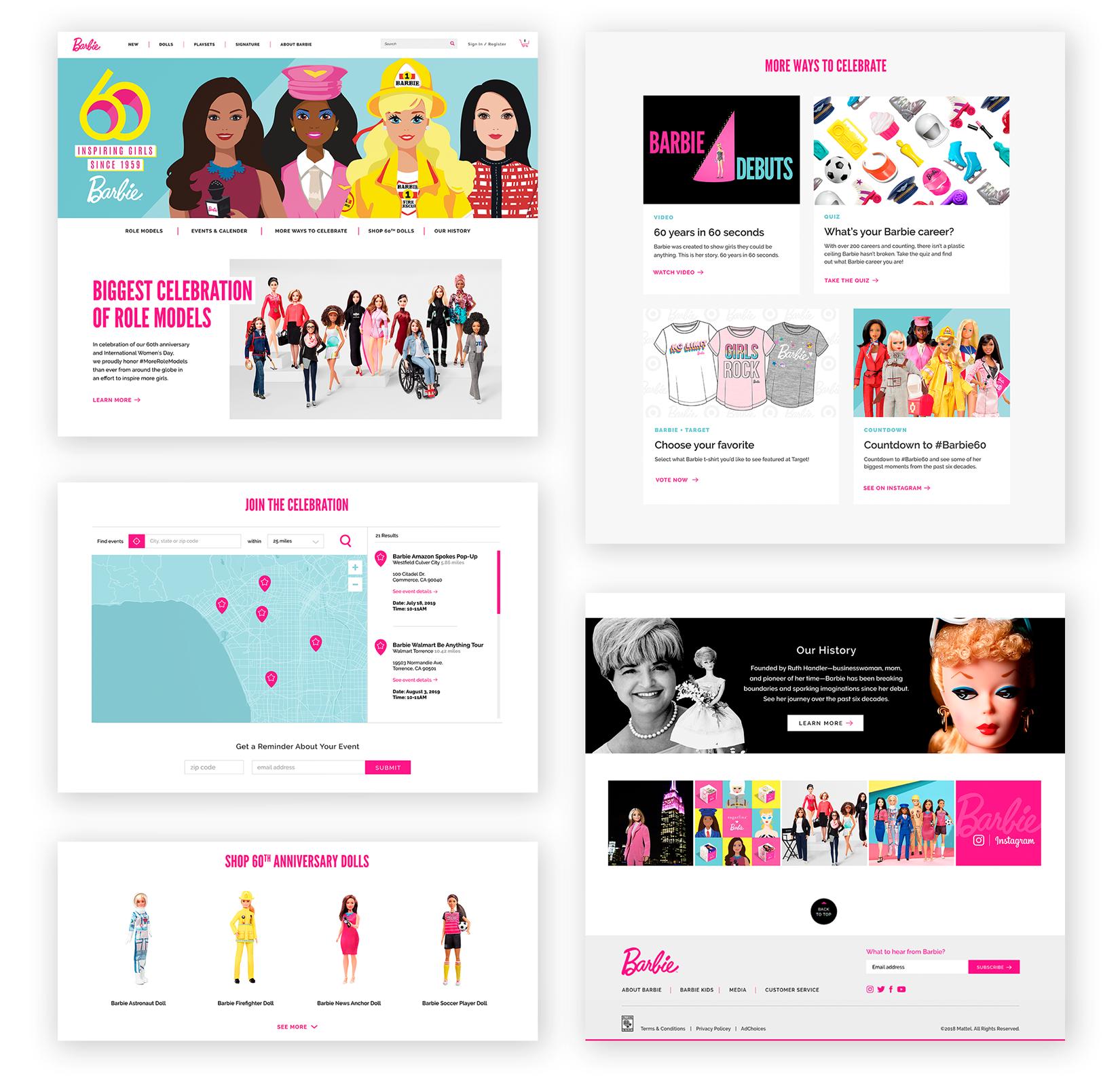 Barbie.com // Anniversary Campaign Page