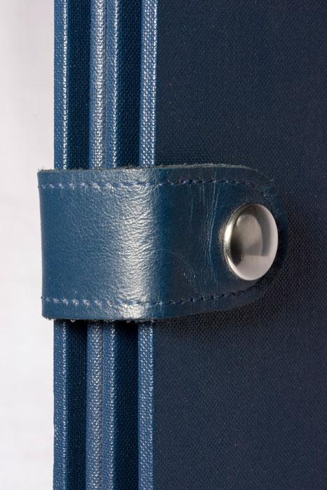 Leather strap & dome closure