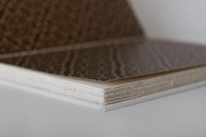 Patterned end-paper & deckled page edges