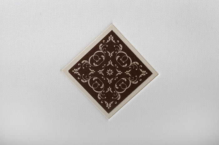 Blind emboss with inlay