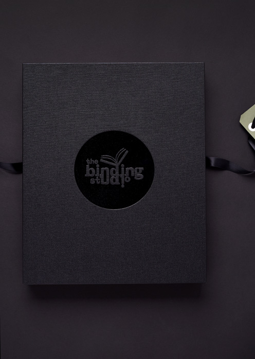 Box with black gloss foil