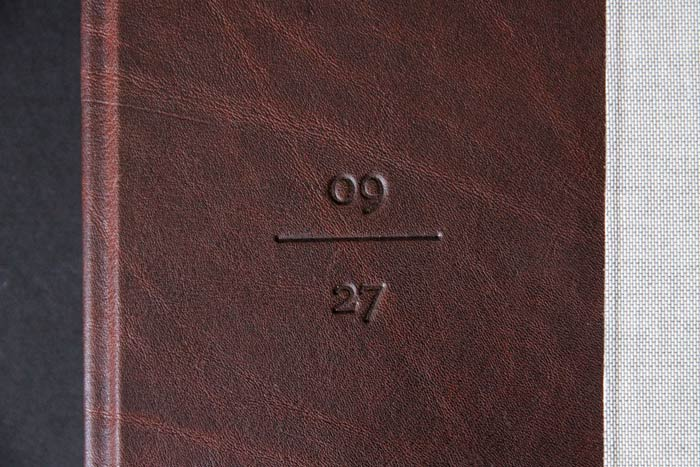 Individual embossing on book